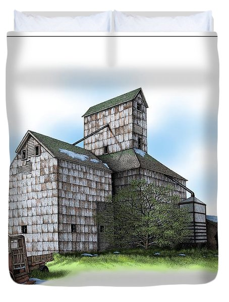 The Ross Elevator Spring Duvet Cover