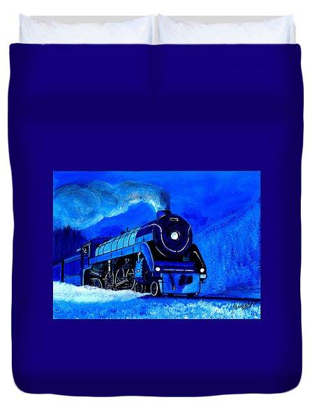 The Royal Blue Express Duvet Cover