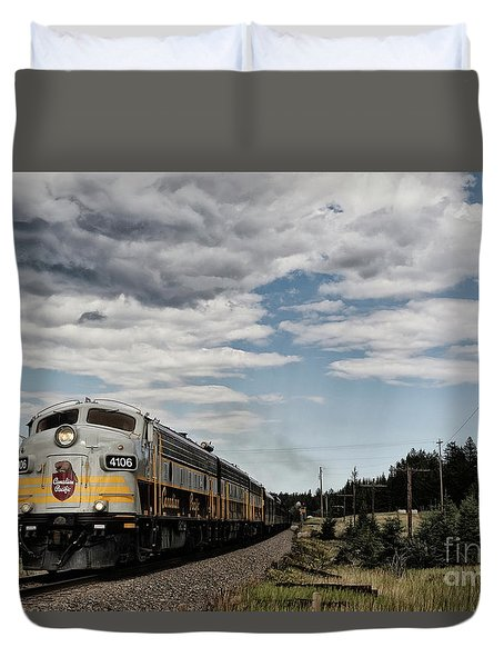 The Royal Canadian Pacific  Duvet Cover