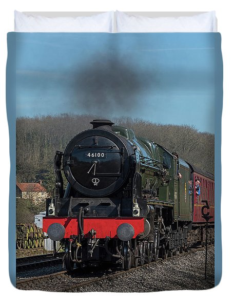 The Royal Scot 1 Duvet Cover by David  Hollingworth