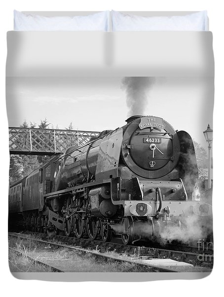 The Royal Scot In Black And White Duvet Cover
