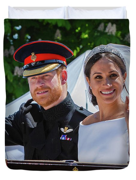 The Royal Wedding Of Prince Harry  To Meghan  Duvet Cover