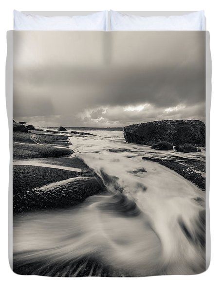 The Rush Of The North Sea Duvet Cover