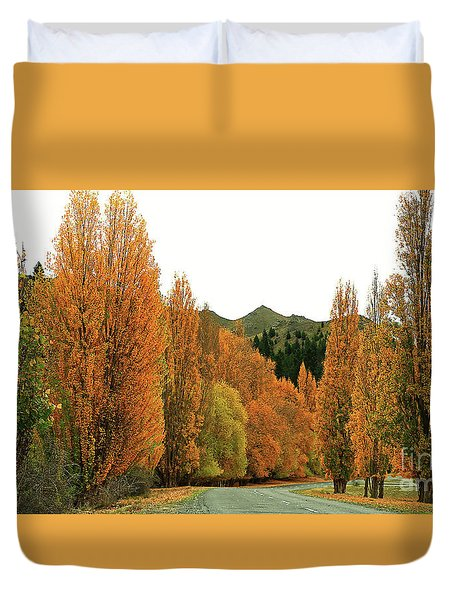 The Russet Tones Of Fall Duvet Cover