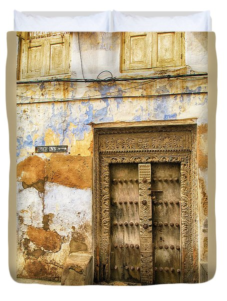 The Rustic Door Duvet Cover by Amyn Nasser
