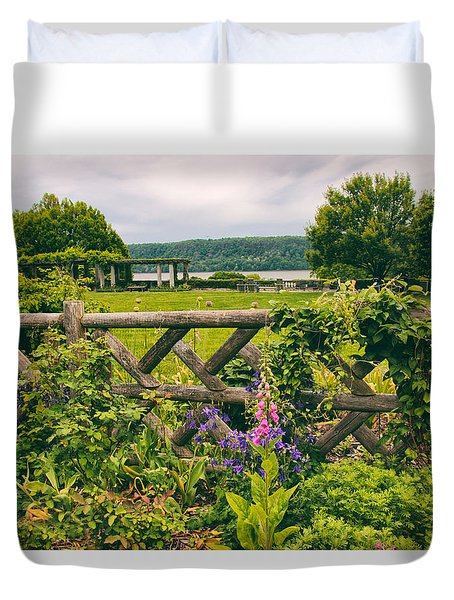 The Rustic Fence Duvet Cover by Jessica Jenney