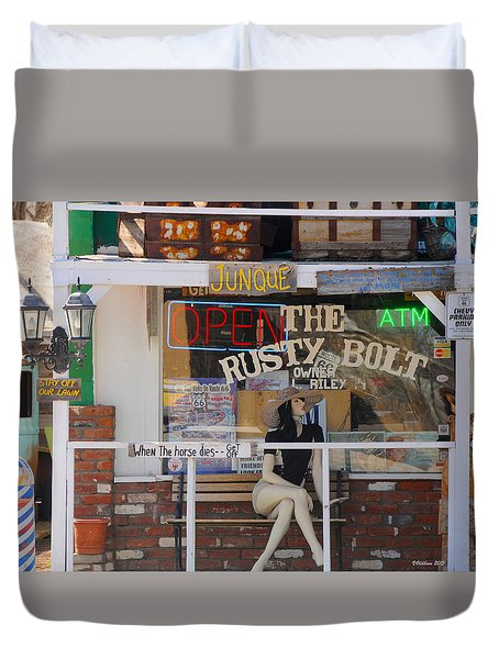 The Rusty Bolt - Seligman, Historic Route 66 Duvet Cover