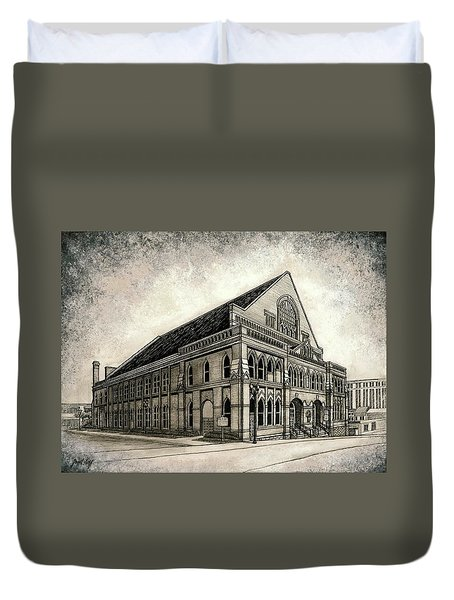 Duvet Cover featuring the painting The Ryman by Janet King