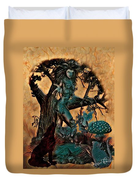 The Sacred Waters Duvet Cover by Vennie Kocsis
