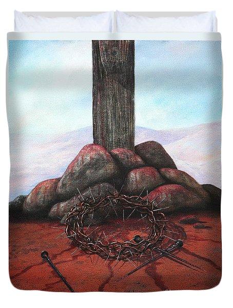 The Sacrifice Of His Love Duvet Cover by Michael Nowak