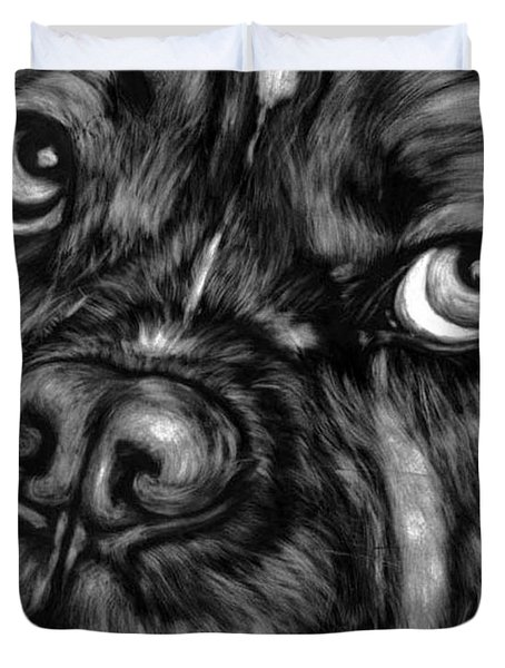 The Sad Boxer Duvet Cover by Enzie Shahmiri