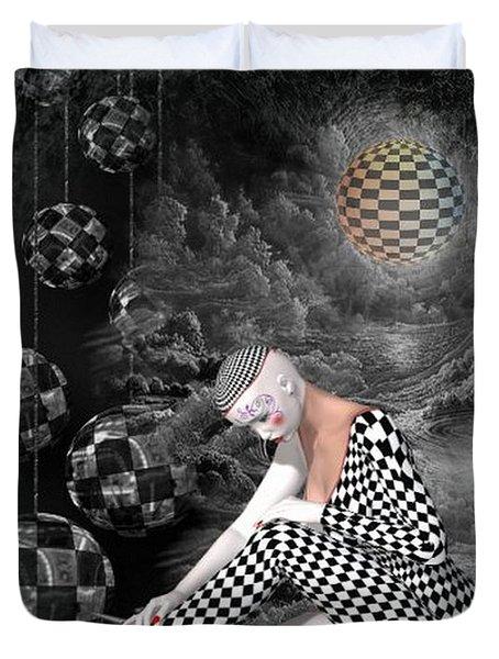 The Sad Pierrot Duvet Cover