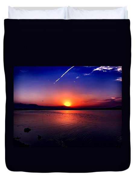 The Salton Sea Duvet Cover by Chris Tarpening