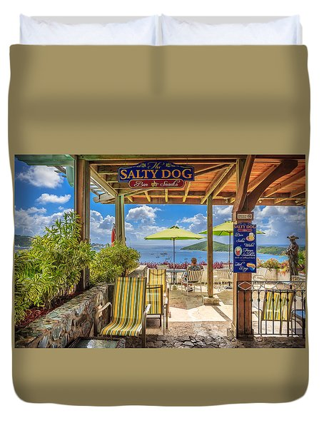 The Salty Dog Charlotte Amalie Duvet Cover