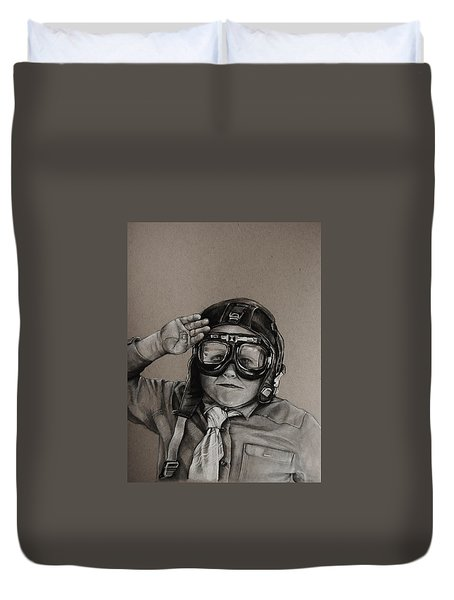 The Salute Duvet Cover by Jean Cormier