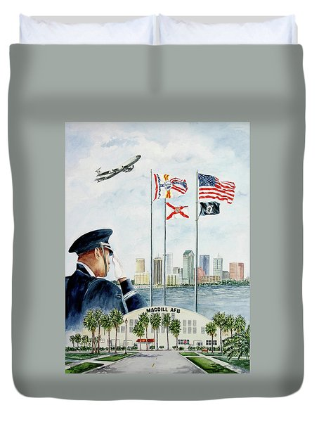 The Salute Duvet Cover