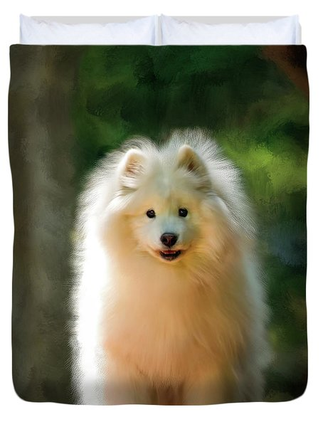 The Samoyed Smile Duvet Cover
