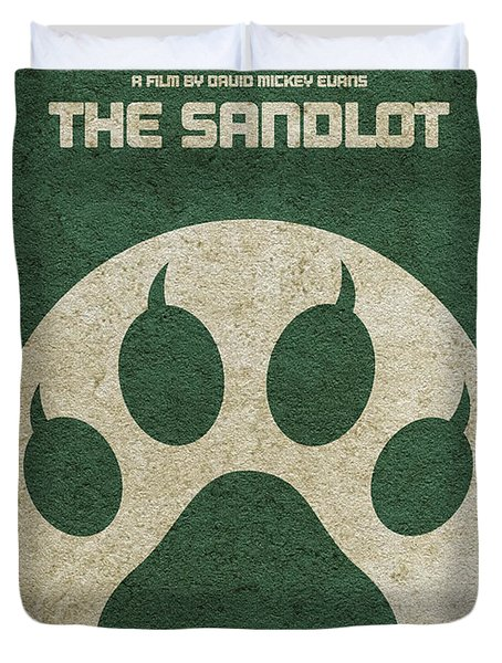 The Sandlot Alternative Minimalist Movie Poster Duvet Cover