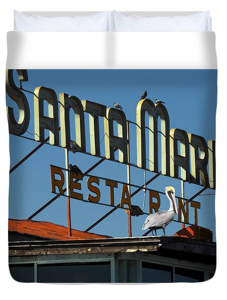 The Santa Maria Duvet Cover by Rod Seel