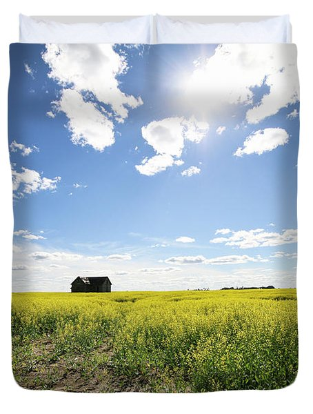 The Saskatchewan Prairies Duvet Cover