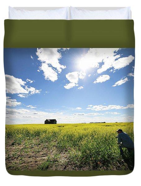 The Saskatchewan Prairies Duvet Cover