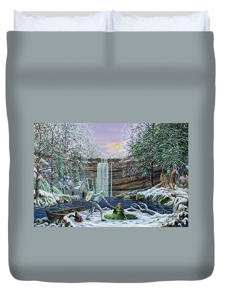 The Saving Of Guinevere Duvet Cover