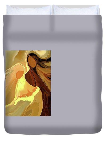 The Saviour Is Born Duvet Cover