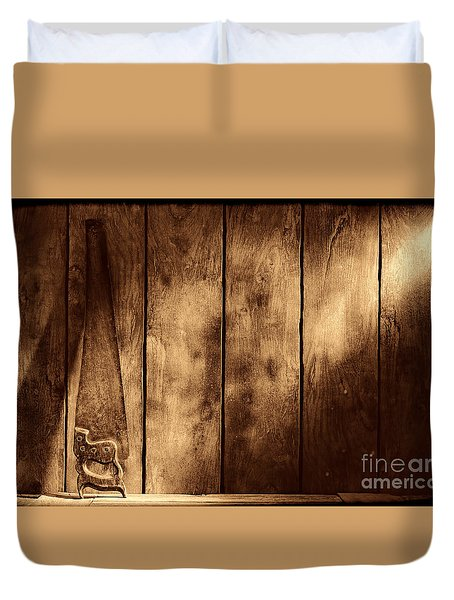 The Saw Duvet Cover by American West Legend By Olivier Le Queinec