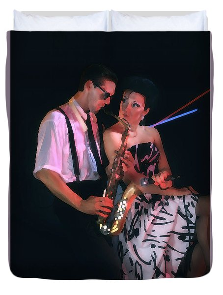 The Sax Man And The Girl Duvet Cover