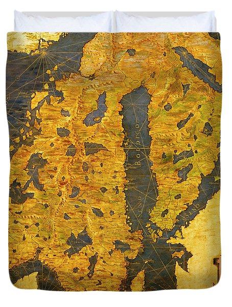 The Scandinavian Peninsula Duvet Cover
