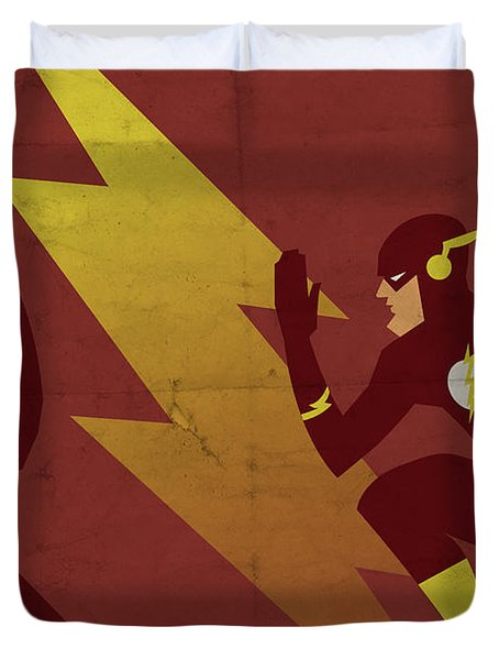 The Scarlet Speedster Duvet Cover