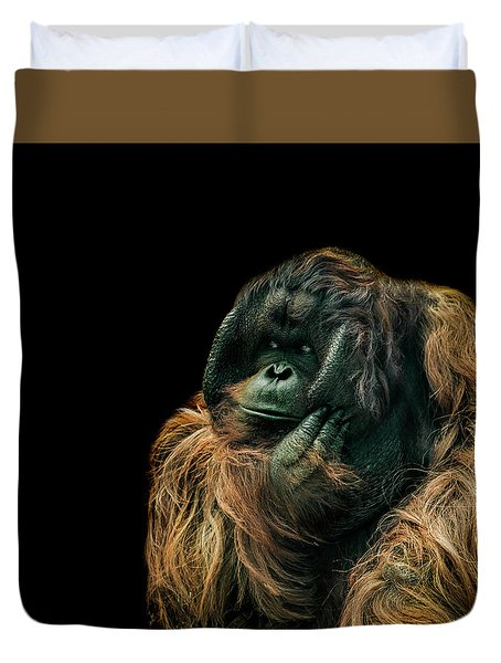 The Sceptic Duvet Cover by Paul Neville