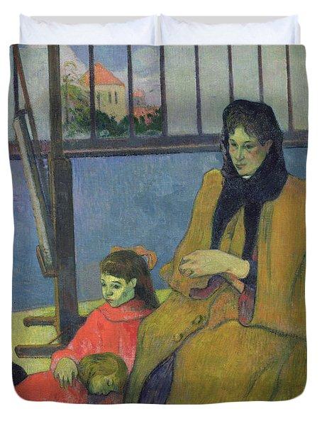 The Schuffenecker Family Duvet Cover by Paul Gauguin