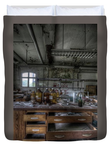 Duvet Cover featuring the digital art The Science  by Nathan Wright