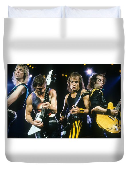 The Scorpions Duvet Cover by Rich Fuscia