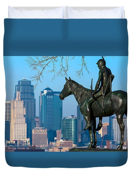 The Scout Statue Duvet Cover