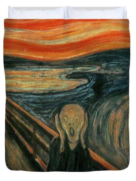 The Scream  Duvet Cover by Edward Munch