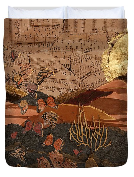 The Scream Of A Butterfly Duvet Cover by Stanza Widen
