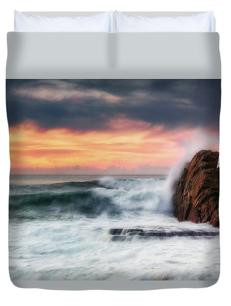 The Sea Against The Rock Duvet Cover