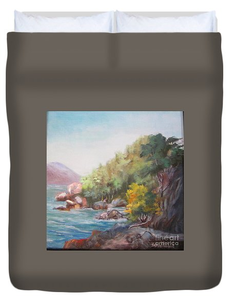 The Sea And Rocks Duvet Cover