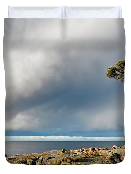 The Sea And The Sky Duvet Cover