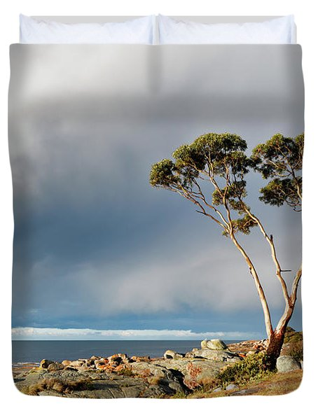Duvet Cover featuring the photograph The Sea And The Sky by Nicholas Blackwell