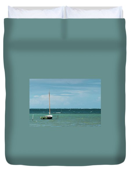 Duvet Cover featuring the photograph The Sea Calls My Name by Break The Silhouette