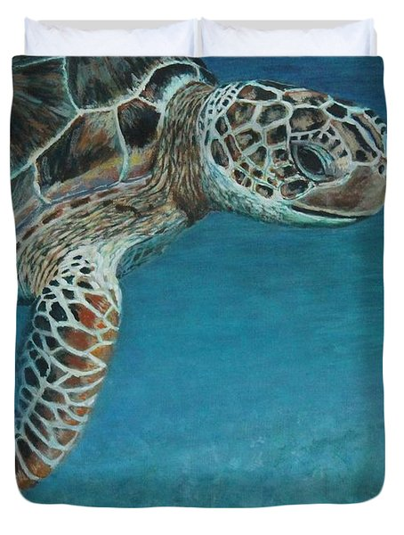 The Giant Sea Turtle Duvet Cover