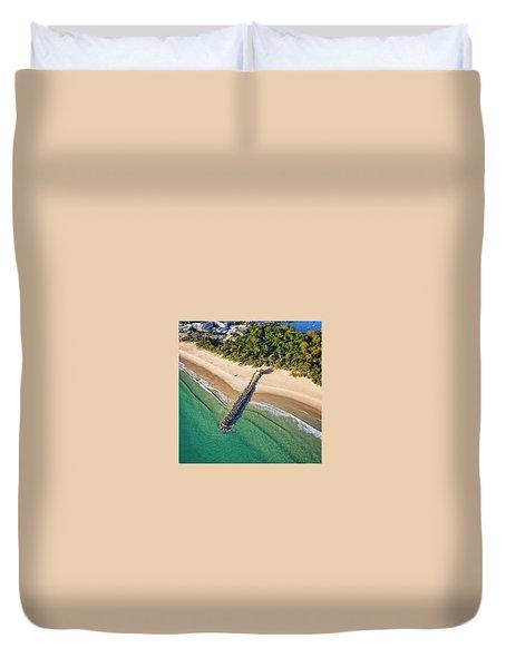The Sea Wall Near Noosa Main Beach Duvet Cover
