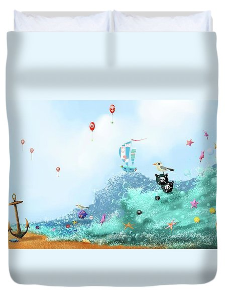 The Seagull's Cup..the Oldest Trophy In The Seafaring Calendar Duvet Cover