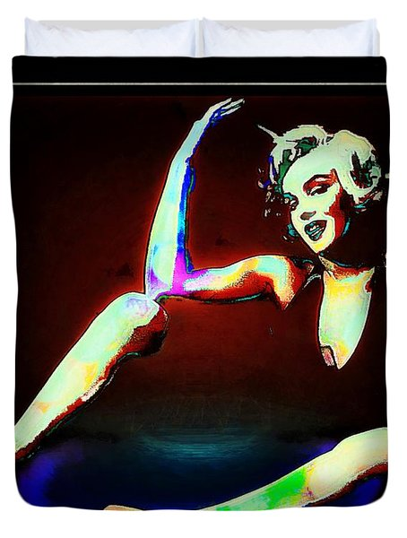 Duvet Cover featuring the photograph The Seance Of Marylin Monroe by John  Kolenberg