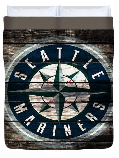 The Seattle Mariners 3b Duvet Cover by Brian Reaves