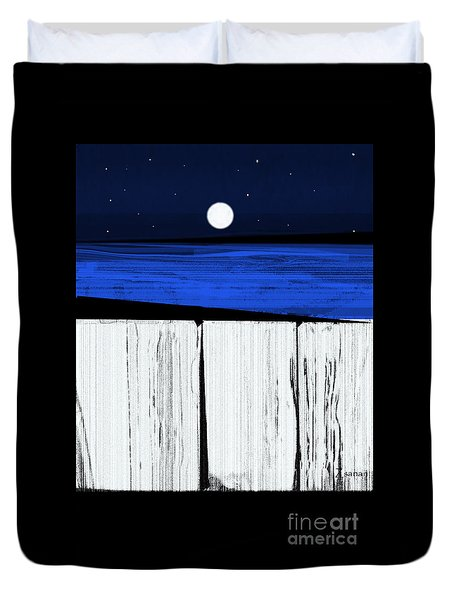 The Seawalls No.4 Full Moon Rising Duvet Cover