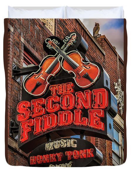Duvet Cover featuring the photograph The Second Fiddle Nashville by Stephen Stookey